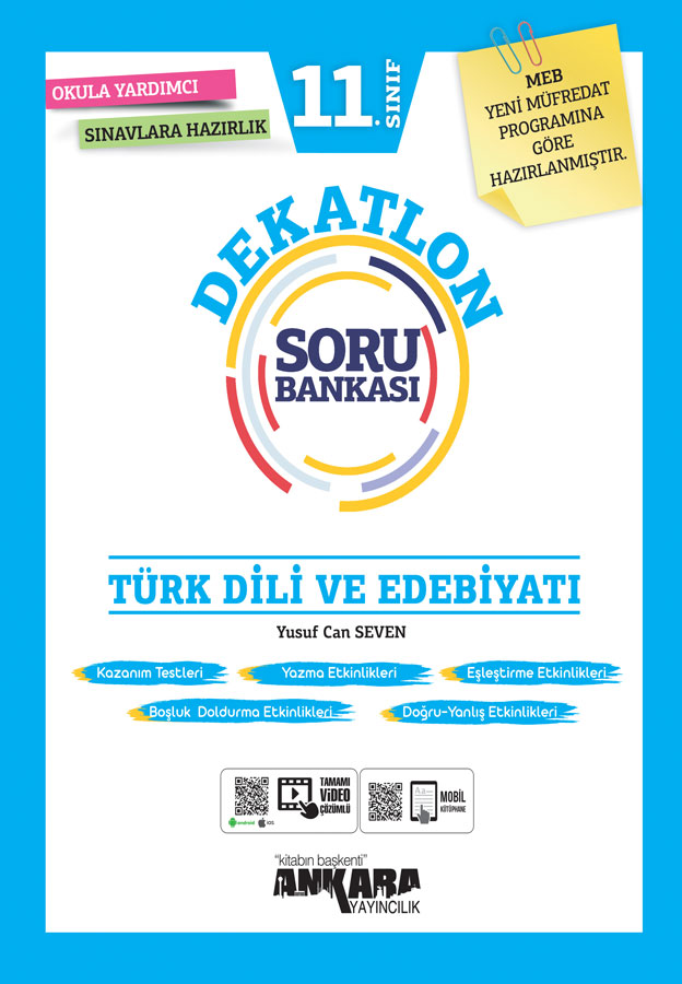11. Sınıf Türk Dili ve Edebiyatı Dekatlon Soru Bankası